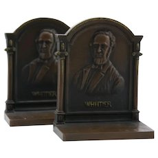 Bradley & Hubbard 'Whittier' Bronze Bookends 1920