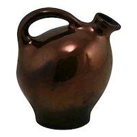"Weller 5.5"" Early Handled Jug In Rich Bronzeware Glazes c1905"