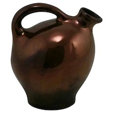 "Weller 5.5"" Early Handled Jug In Rich Bronzeware Glazes c1905"
