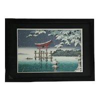 Tsuchiya Koitsu (1870-1949) 'Miyajima in Falling Snow'