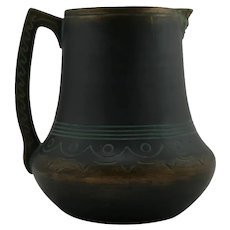 Norse Pottery Pitcher In Brushed Black/Bronze/Green Patina #53 Original Condition