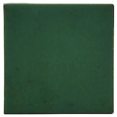 "Rookwood Faience 4"" Tile in Matte Green Glaze c1920"