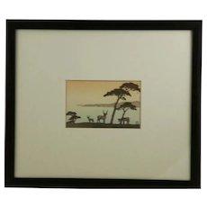 Kawase Hasui (1883-1957) Kinkazan Woodblock Print