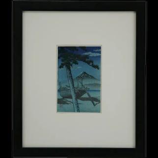 Kawase Hasui (1883-1957) 'Mount Fuji in Twilight'