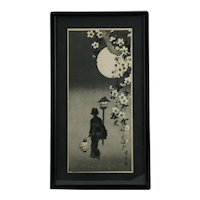 After Takahashi Shôtei (1871-1945) 'Spring Evening, Lady with Lantern'