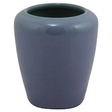 "University of North Dakota UND 4"" Vase Julia Mattson in Lavender Blue Glaze 1922"