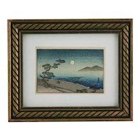 Arai Yoshimune (1873-1945) 'Suma Beach by Moonlight'