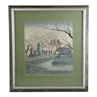 Tokuriki, Tomikichiro (1902-1999)  'Plum Blossoms at the Kitano Shrine'