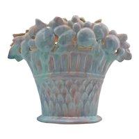 Royal Haeger Early Mauve Agate Fruit Basket Pillow Vase Gorgeous Glazes