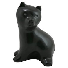 "Pigeon Forge 7.25"" Large Standing Bear in Satin Black Glaze by Douglas Ferguson"
