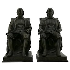 Jennings Brothers 'John Harvard' Bookends by Daniel C. French JB2654 c1928