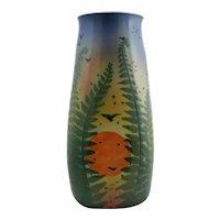 "New Art Pottery 13.5"" Vase 'Fern Pot' By Tim Eberhardt At Roycrofter Studio Mint"