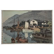 Hiroshi Yoshida (1876-1950)  'Tomonoura Harbor'