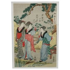 Katsukawa Shuncho (1780-1807)  'Beauties at a Tea House'