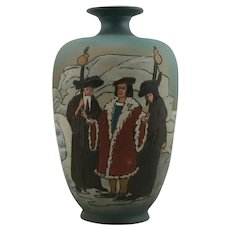 Weller Dickensware Vase 'The Oyster and Its Claimants' Design from Gustave Doré