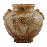 "Camark 9.5"" Ring-Handled Urn/Vase 1930s #339 In Rich Brown Stipple Glazes"