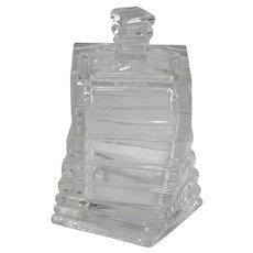 Rosenthal Glass Studio Line Geometric Twist Covered Box Designed by Christa Hausler-Goltz