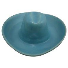 Catalina Pottery Hat Ashtray in Glacial Blue Glaze