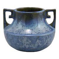 "Fulper 4.75"" Urn/Vase c1917-1934 Shape #452 In Rich Blue Crystalline Glazes"