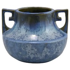 "Fulper 4.75"" Urn/Vase c1917-1934 Shape #452 In Rich Blue Crystalline Glazes"