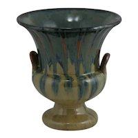 "Fulper 7"" Pedestaled Urn/Vase 1929-1934 In Cat's Eye Flambe Glazes Shape 4018"