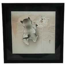 Ohara Koson (Shoson) (1877-1945) 'Puppies'