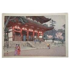 Hiroshi Yoshida (1876-1950)  'Omuro'
