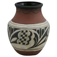 "Weller Suevo 8"" Vase in Native American Motif, Shape #9"