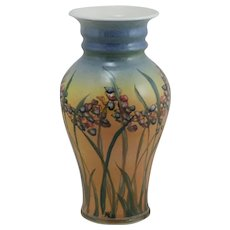 Linden Hills Pottery Vase A&C Floral Motif by Cynthia Mosedale and Bill Kaufman c1980s
