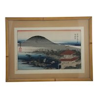 Hiroshige, Utagawa (Ando)(1797-1858) 'Kinkakuji Temple', from the series Famous Places in Kyoto, #10