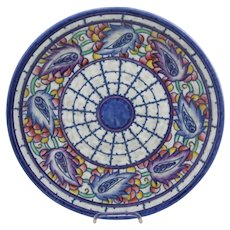 Crown Ducal 'Persian Leaf' Charger c1931 by Charlotte Rhead