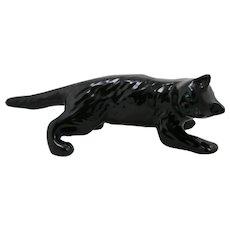 Mid-Century Modern Camark Pottery Tree-Climber Black Cat c1960