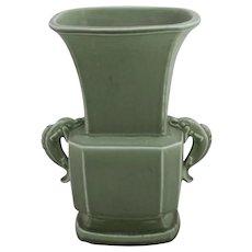 Rookwood Dolphin-Handled Vase Kataro Shirayamadani Design