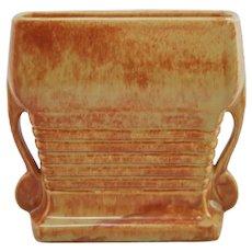 Roseville Tourmaline Pillow Vase In Golden Yellow/Orange Glazes