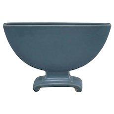 Cowan Pottery Art Deco Flat Vase in Icy Blue Glazes