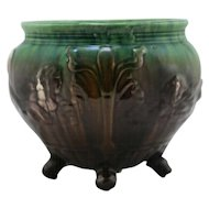 "Weller 'Sirens Of The Sea' 6.75"" x 8"" Footed Jardiniere In Blended Glazes Mint"