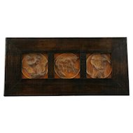 "Wheatley 17.5"" Framed Horoscope Tiles 4"" Square Pisces/Taurus/Sagittarius Mint"