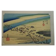 Utagawa (Ando) Hiroshige (1797-1858) The Fifty-Three Stations of the Tokaido Road, Series No. 24 Shimada