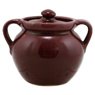 "Cornelison Pottery Bybee Kentucky 4"" x 4"" Covered Jar/Pot In Berry Red Glaze/Gloss Finish Mint"