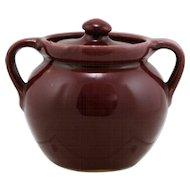 "Cornelison Pottery Bybee Kentucky 4"" x 4"" Covered Jar/Pot In Berry Red Glaze/Gloss Finish Mint"