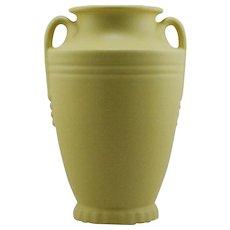 "Abingdon Pottery Delta Vase 10"" c1938-39 in Lemon Chiffon Glaze Mint A694"
