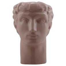 Geza de Vegh Phoenix Pottery Co. Art Deco Male Head Vase Mint C130