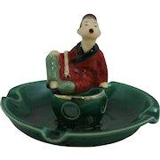 "Will George Of Pasadena 3.75"" x 4.75"" Asian Incense Burner In Vivid Colors Mint"