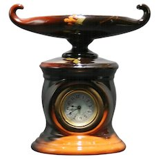 "Weller Louwelsa 8.75"" x 8"" Aladdin's Clock In Rich Standard Glazes Mint"