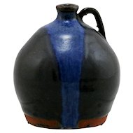 Steve Abee Miniature Catawba Valley Folk Art Jug Form Organic Glazes 'Sea' Lenoir, NC C260