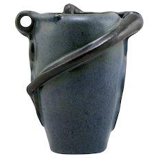 """New Art Pottery 6.5"""" Snake & Frog Vase By Tim Eberhardt 1995 Studio Mint C5"""