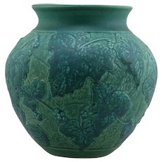 "New Art Pottery 8.5"" 'Grape Vine' Vase By Tim Eberhardt 2006 Studio Mint C2"