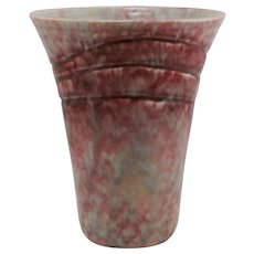"Roseville Imperial Ii 8.25"" Vase In Stormy Red/Turquoise/Green 476-8 Great Glaze"
