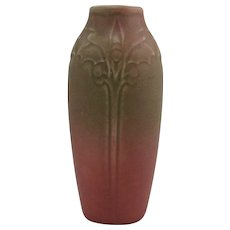 "Rookwood Production 6.5"" Vase #2115 Sara Sax Design In Green Over Rose Glaze 1918 Mint"