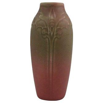 """Rookwood Production 6.5"""" Vase #2115 Sara Sax Design In Green Over Rose Glaze 1918 Mint"""